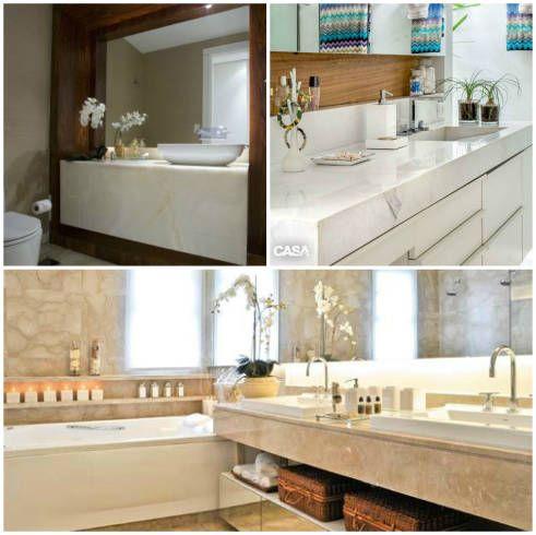 A bancada de banheiro pode ser apenas um elemento de apoio ou pode fazer parte da decoração e até ser a atração principal do ambiente. É claro que transformar a bancada em parte da