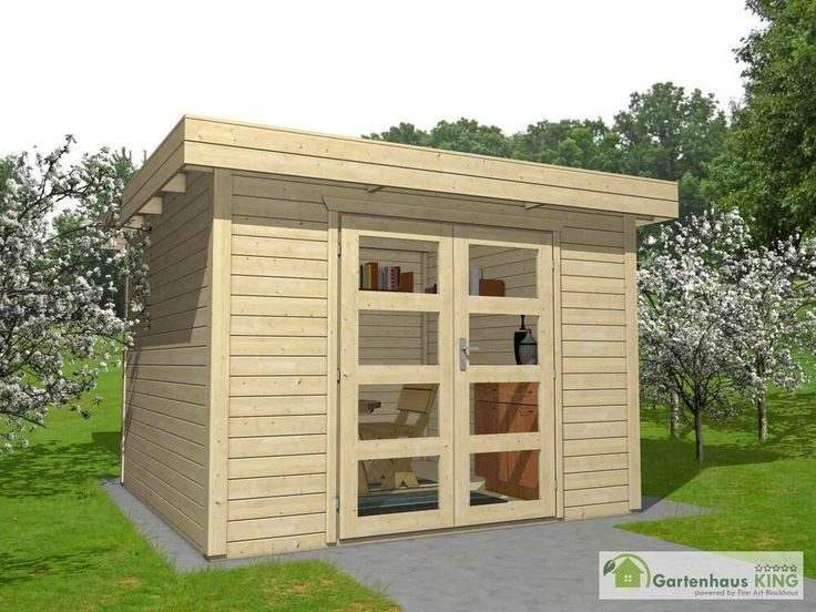 eBay Sponsored Flachdach Gartenhaus Holz 3x3m Gerätehaus