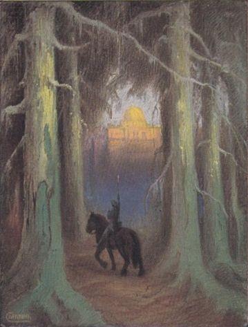Hermann Hendrich, Saint Grail Legend, Parsifal brings the Saint Spear to the Grail Castle