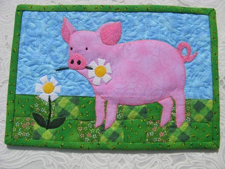 Looking for your next project? You're going to love This Litte Piggy Mug Rug by designer 2strings. - via @Craftsy
