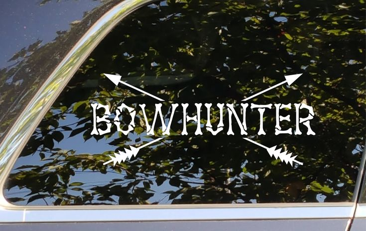 Bow Hunter, Bowhunter bones decal,sticker, accessory for Automotive, car, cell, computer, cups, glass, mugs, phone, window decoration by LeopardVinylDesigns on Etsy