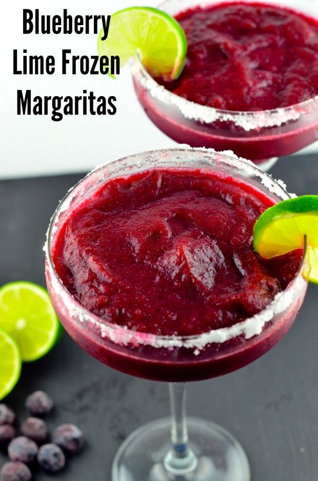 Blueberry Lime Frozen Margaritas - these look fantastic! And even thought its winter in New Zealand I may have to make them and drink them in front of the fire!