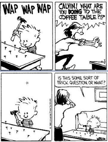 funny Calvin and Hobbes comic nails table on imgfave