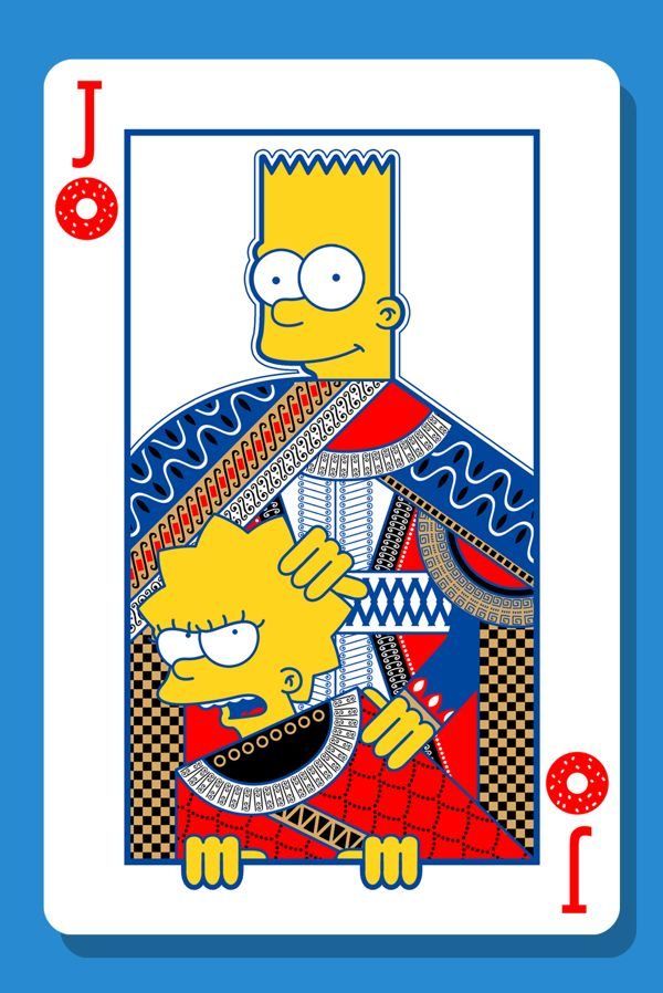 the Simpsons card family by Charles AP, via Behance