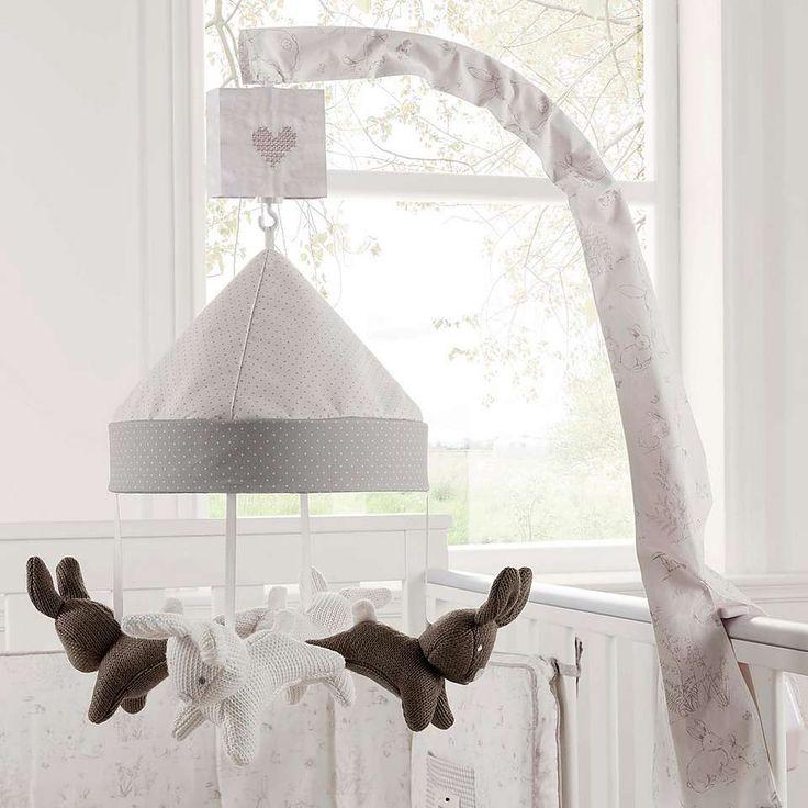 Dorma White Bunny Meadow Nursery Cot Mobile Dunelm