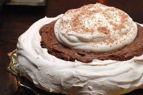 Chocolate and Meringue Angel Pie   Pie and Cobbler Recipes   Pinterest