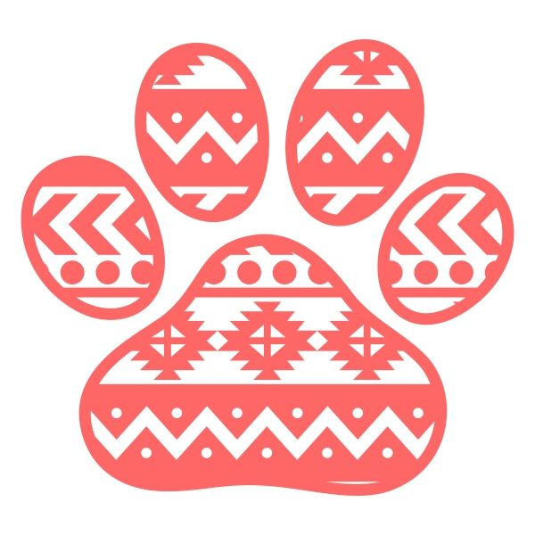 Aztec Paw Svg Cuttable Designs