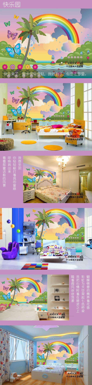 Grande murais pode ser personalizado dos desenhos animados do papel de parede sala de crianças do jardim de infância educação murais de parede quarto em Papéis de parede de Melhoramento Da casa no AliExpress.com | Alibaba Group