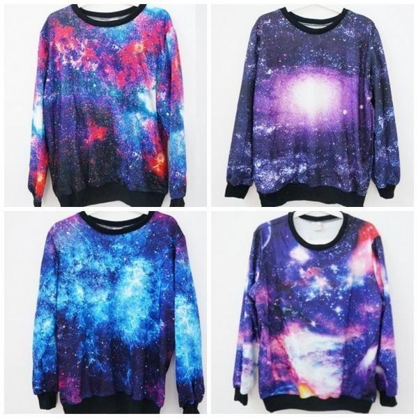 fotos de sweater galaxy | Толстовка AliExpress Джемпер Галактика galaxy ...