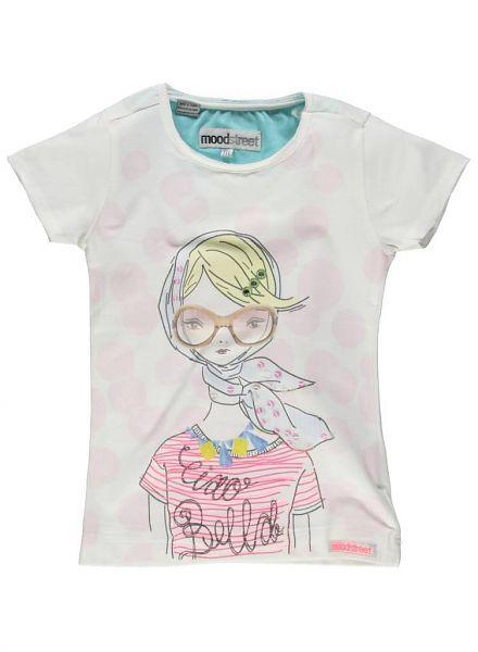 Moodstreet Moodstreet off white shirt met Bella girl