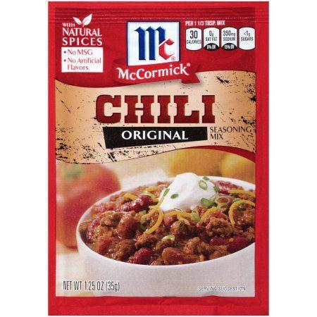 McCormick® Chili Mix, 1.25 oz. Packet