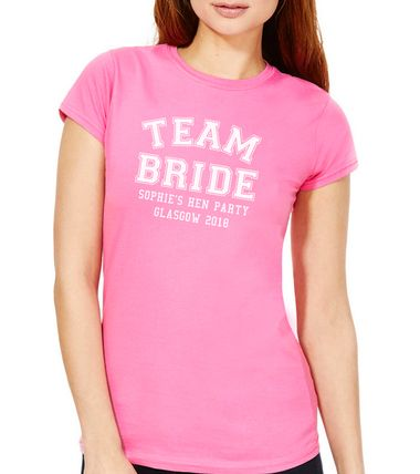 add the hen party event and the brides name for no extra cost