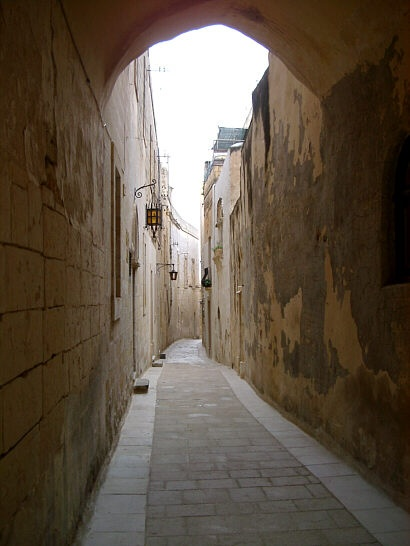 in malta the streets are so narrow most you can touch both sides with your hands