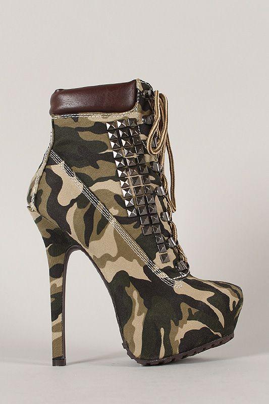 #reallycute camo high heels 25084333