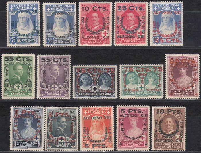 Spanje 1927-25ste verjaardag van de grondwettelijke eed door Alfonso XIII toegestaan met nieuwwaarde-Edifil nr. 373 / 387.  EUR 1.00  Meer informatie
