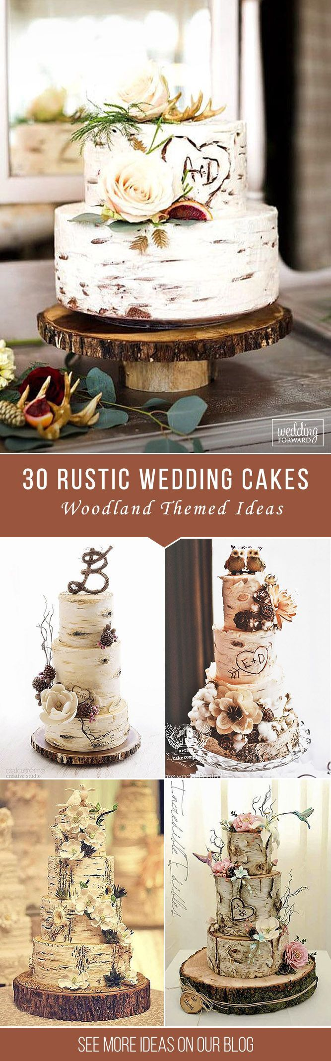 Let them eat cake rustic wedding chic - 30 Must See Rustic Woodland Themed Wedding Cakes