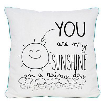 Really Nice Things - Cojín Sunshine Rainny Days blanco y negro  40 x 5 x 40 cm