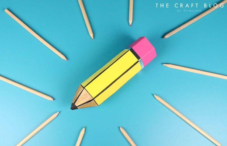 Teacher Pencil Gift Box Tutorial with Free Printable Templates