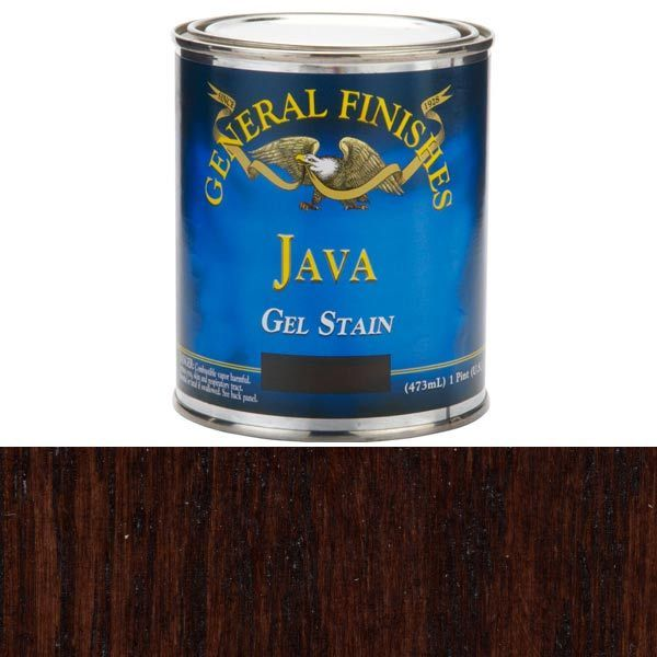 Ikea black brown finish 2 coats of general finishes java for Gel stain