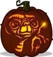 E.T. pumpkin pattern - E.T. The Extra-Terrestrial