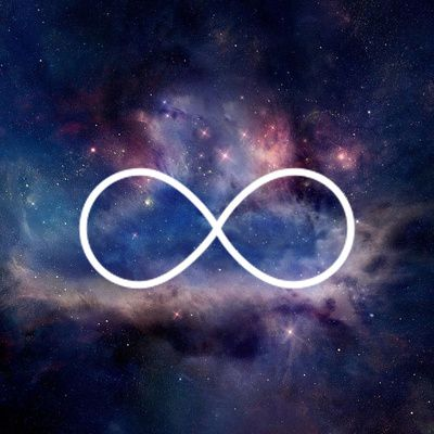Infinity Symbol Stars Galaxy Space Stretched Canvas