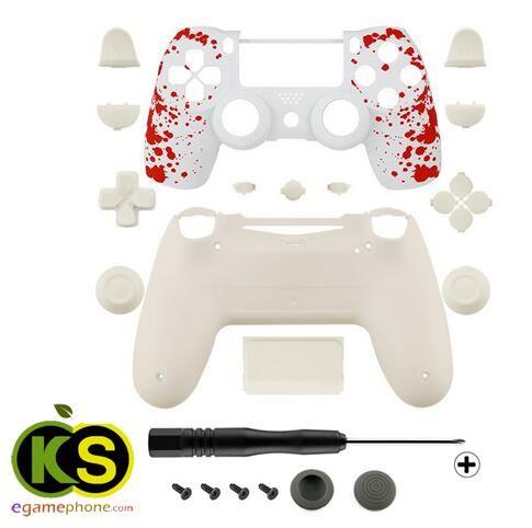 ps4 custom Blood Patterned Controller Full Housing Shell