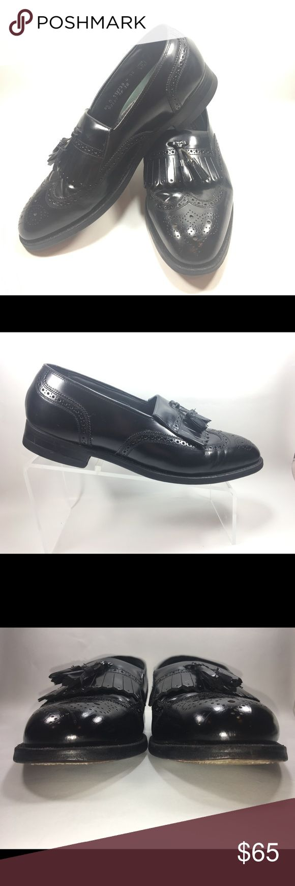 Florsheim Imperial Black Tassel Klit Wing Tip 8.5D Very Good Condition Some Normal Wear Including Minor Scuffing & Sole Wear Recently Edge Dressed. Florsheim Imperial Black Leather Double Tassel Kilt Wing Tip Slip On Loafer Size 8.5 D Made In the USA Shoe #S198 Florsheim Shoes Loafers & Slip-Ons