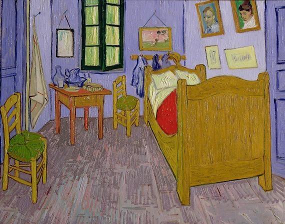 'Van Gogh's Bedroom at Arles' by Vincent van Gogh (1889)