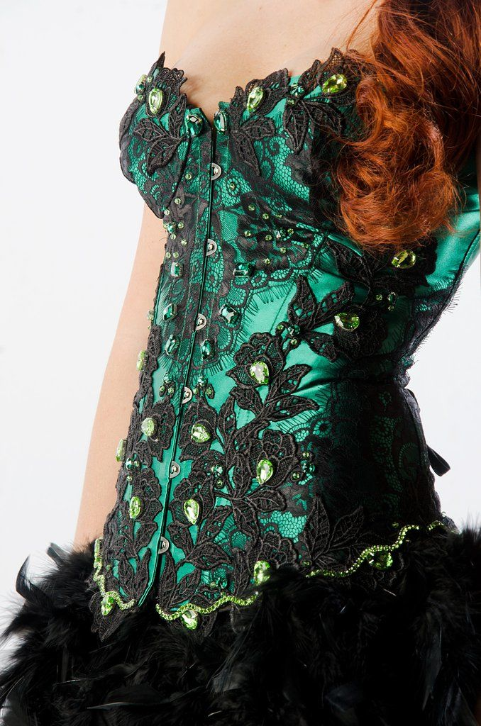 Emerald green feather skirt bodycon dress backless