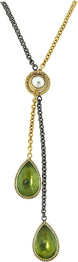 TODD REED Pear Shape Tourmaline Necklace