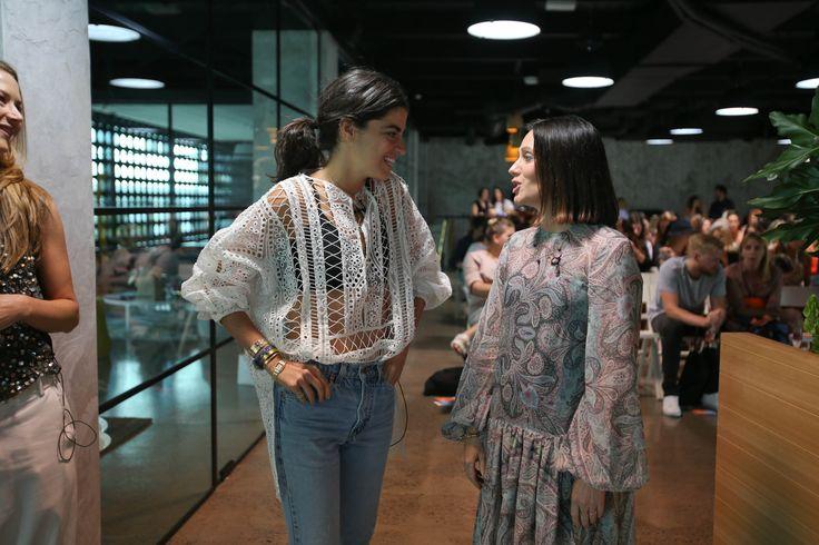 Leandra Medine with Nicky Zimmermann