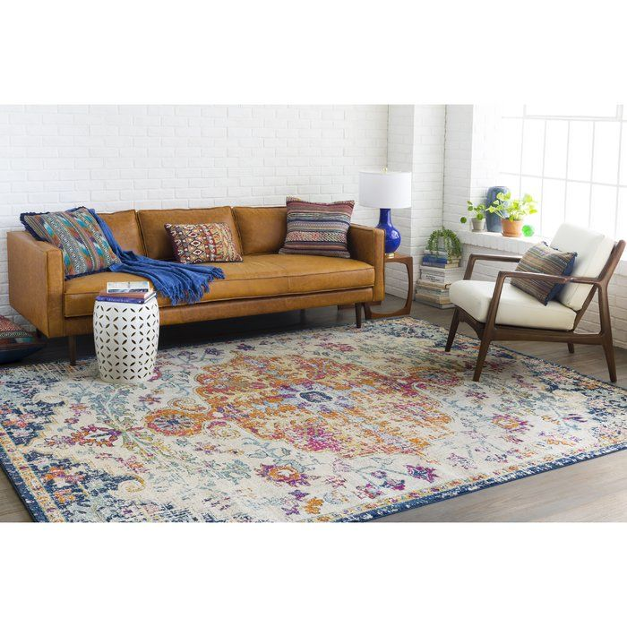 Hillsby Orange Navy Area Rug Rugs Area Rugs Rugs