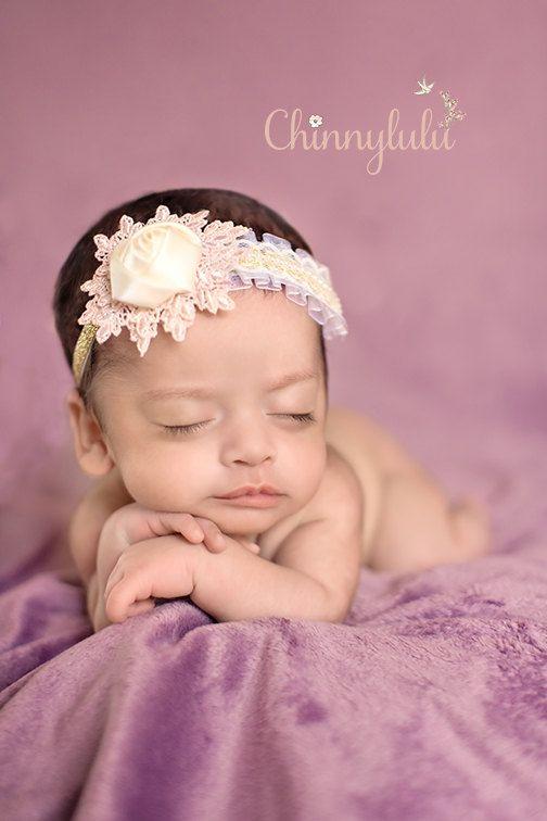Shine Your Light  Single Flower Baby Headband by ChinnyLuLu, $23.50