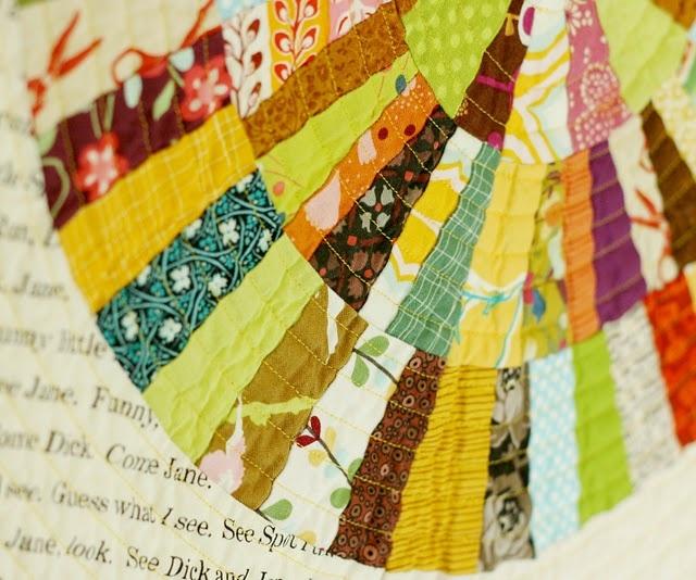Autumn circle quilt