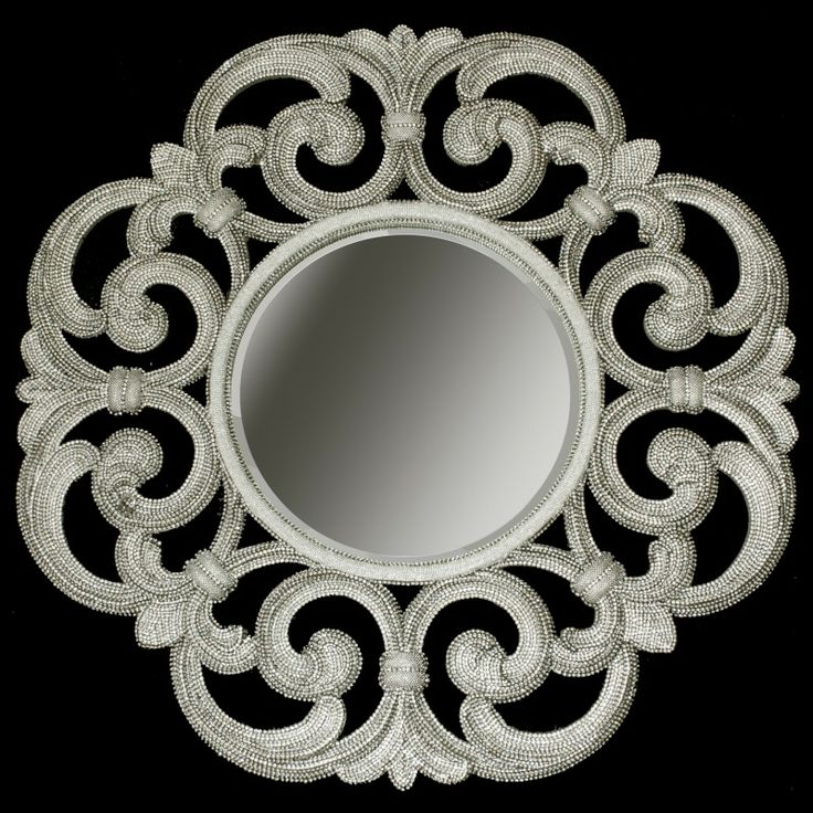 Large Ornate Designer Mirrors By BB Simon Are Made Of Authentic Swarovski  Crystals. Rhinestone Mirrors Offer Gorgeous Touch To Interior Decor To  Impress For ...