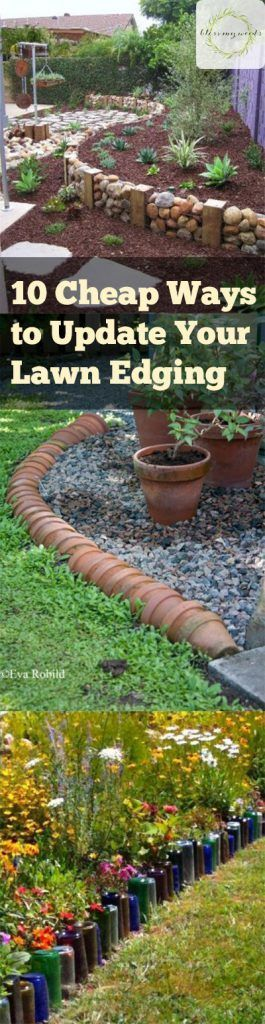 Keep your outdoor living space beautiful  with these cheap garden edging tips.