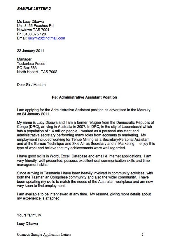 letter of application    resumesdesign com  letter
