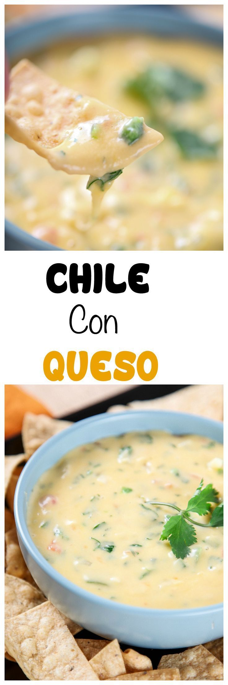 Chile Con Queso Dip: Melty gooey cheese dip that is perfect for Taco Tuesday! 100% from scratch, no Velveeta or other processed cheese.