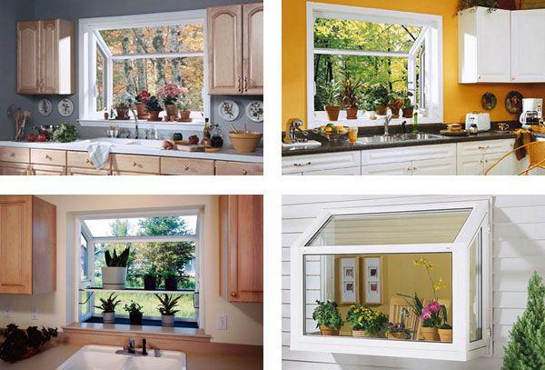Greenhouse Windows Kitchen #Garden window for kitchen