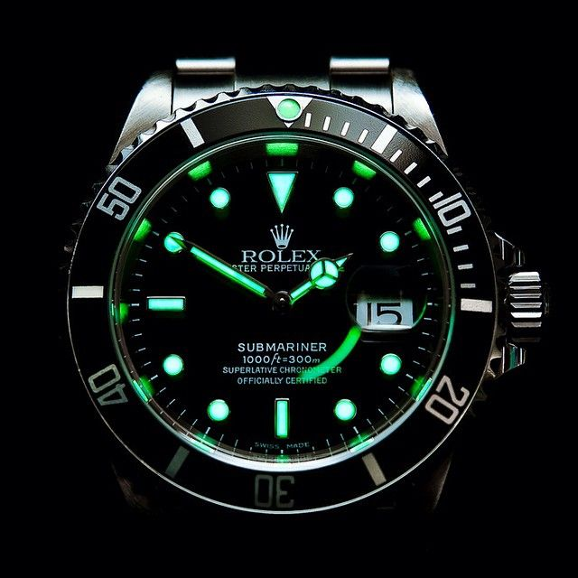 Good Night - Rolex Submariner Date,‼️ Perfect Lume Shot!