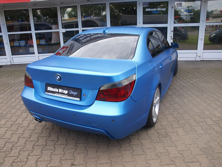 BMW E60 ORACAL - Matt Azure Metallic  Oklejanie samochodów Bytom www.silesiawrap.pl