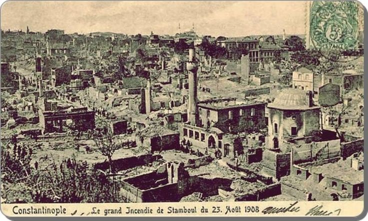 1.500 evin yanıp kül olduğu Çırçır yangını - 23 Ağustos 1908