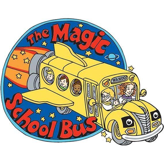 The Magic School Bus Vinyl Sticker Magic School Bus Magic