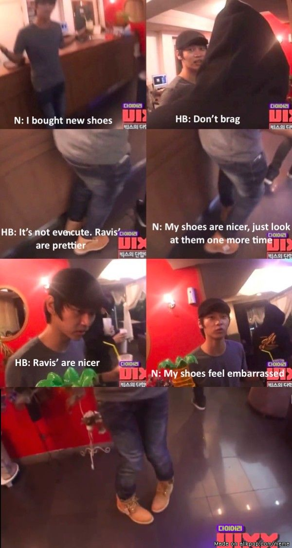 N bought new shoes and they have feelings #VIXX | allkpop Meme Center