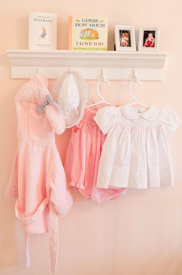 Pink Baby Girl Nursery Shelf