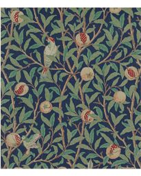 Bird & Pomegranate Turquoise/Coral från William Morris & Co