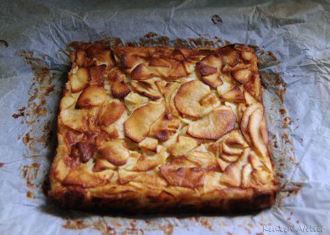 Appelcake met custardstructuur