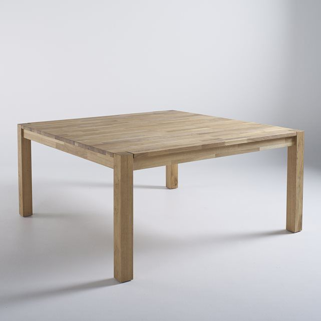 1000 id es sur le th me table carr e sur pinterest table for Table bois rallonge 12 personnes