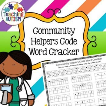 Community Helpers Code Word CrackerThis download is a fun Community Helpers task that is perfect for helping build students attention to detail and problem solving skills. Students have 12 questions on each worksheet. They have to find out the letter that