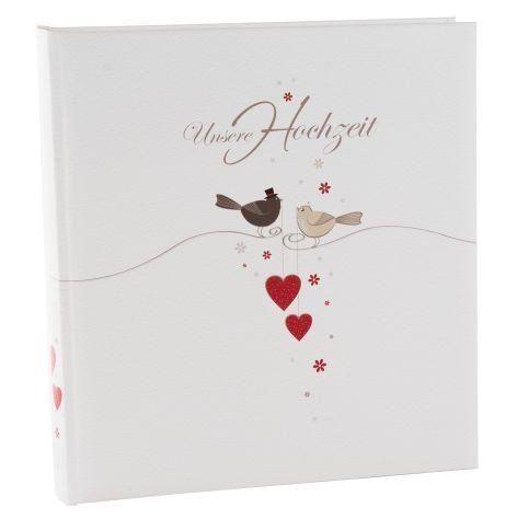 Album di nozze Amorio, 30 x 31 cm, lati 60 bianca, con 4 text siti introduzione